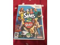 Wii game ' sims 2 pets '