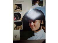 Velvet covered riding hat