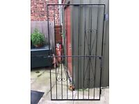METAL GARDEN GATE 182CM HIGH BY 99CM WIDE