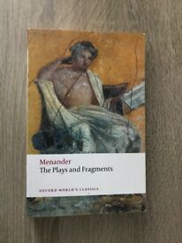 Menander: The Plays and Fragments (Oxford World's Classics) (second hand)