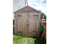 4 x 6 Wooden Shed. Very good condition. Double Doors.