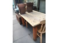 DINING TABLE RUSTIC FARMHOUSE COUNTRY STYLE SEATS 4-6
