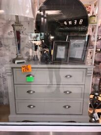 Solid Wood Chest of Drawers - Painted in Farrow and Ball Elephants Breath