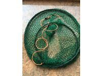 Fishing rod, holding net and accessories