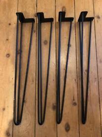 4x Steel Hairpin Table Legs