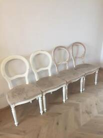 4 Balloon back chairs (need sprucing up!)