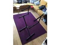 Bespeco keyboard stand with second tier extension