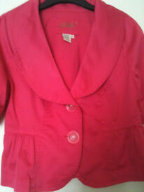 Pink summer jacket for women size large/44