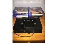 500gb PS4 with Controller and 10 games
