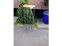 Side table , plant or lamp table wood and metal made by Ducal