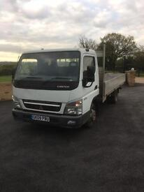 Mitsubishi fuso canter 35.13 14 ft dropside truck 2009 091000 miles
