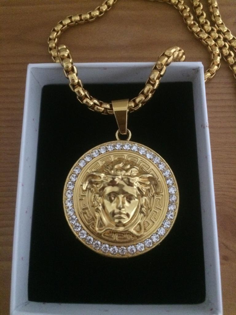 Versace medusa medallionpendant knecklace chain in sutton versace medusa medallionpendant knecklace chain aloadofball Images