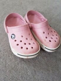 Girls original crocs pink