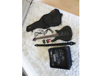 stagg bass guitar with fender amp and accessories kit package