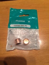 Proflame Endfeed Stop End 15mm, pack of 2
