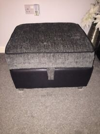 Charcoal storage footstool DFS