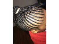 Mobile Afro hairdresser