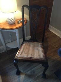 Upcycle project chair - beautiful chair needs upholstering £10