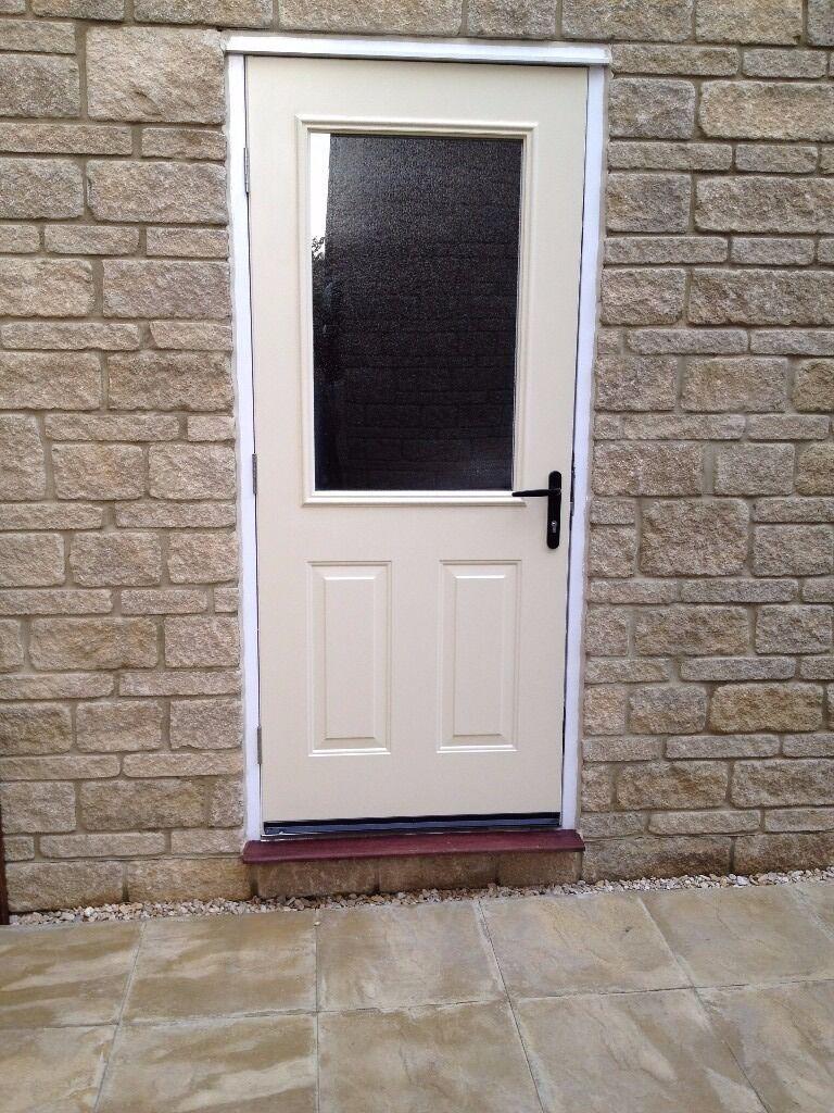 External Door, Frame, door handle and lock