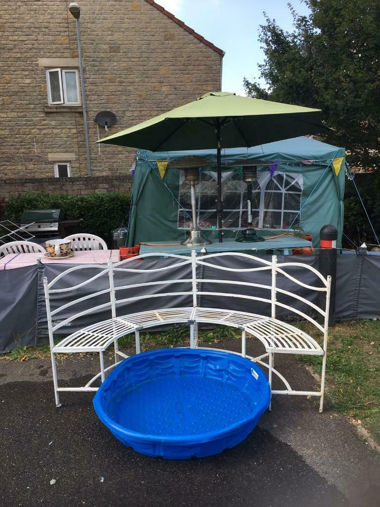 Swell Vintage Garden Half Moon Seat Offers In Frome Somerset Gumtree Cjindustries Chair Design For Home Cjindustriesco
