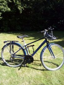 Raleigh pioneer 21speed brand new rode once Inc helmet led lights bike lock £200 or very near offer