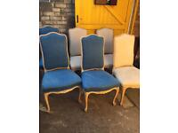 Set of 6 dining chairs Louis style