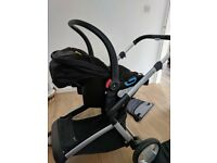 Mother care Roma baby travel system in black