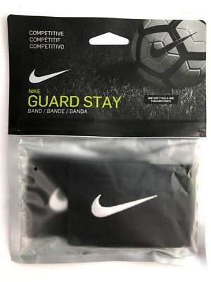 NEW Nike Guard Stay Black Stretch Bands Pair For Securing Shinguards Soccer