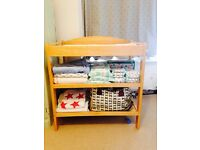 Changing table with mat