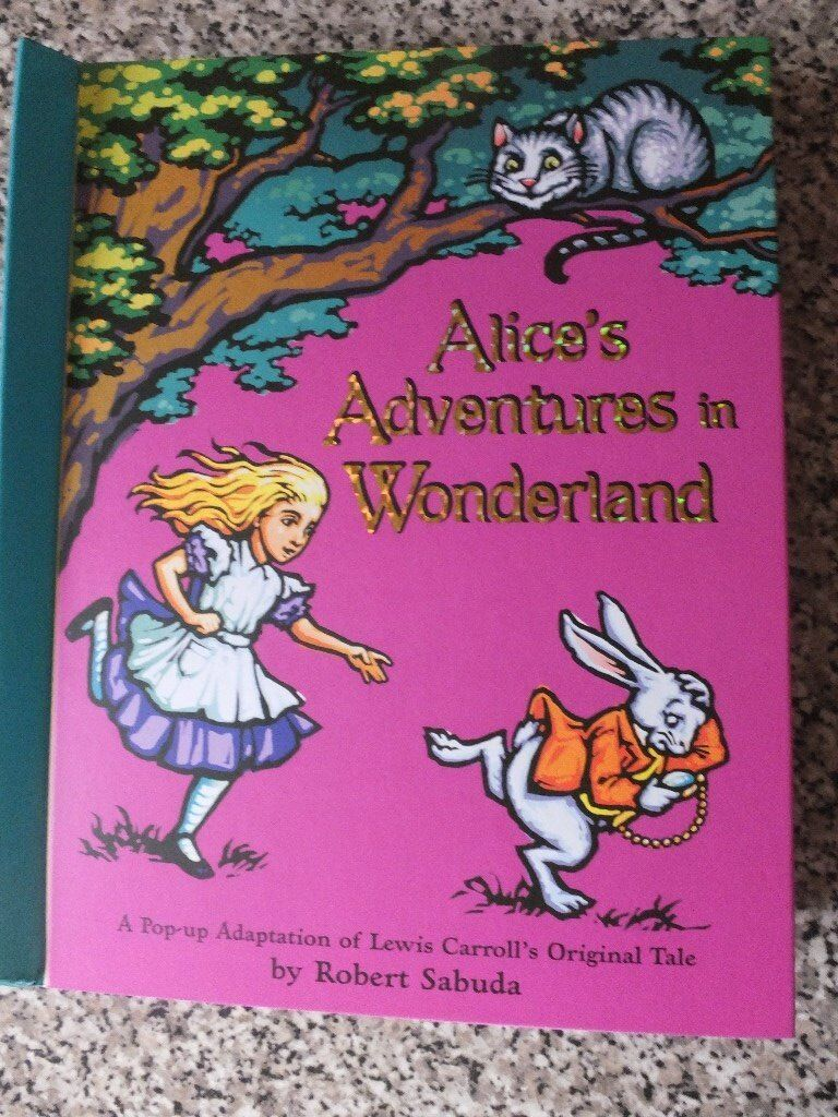 Alice's Adventures in Wonderland Pop Up Interactive Book. Brand New.