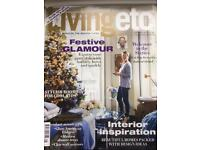 LIVING ETC MAGAZINES. 12 ISSUES. JAN - DEC 2012
