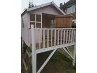 Wooden childrens play house