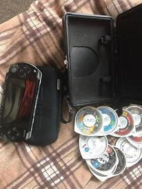 Psp for sale with games and cases