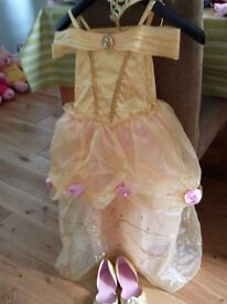 Disney princess Belle dress ages 5-6 with accessories