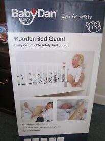 Baby Dan Bunk bed or single Bed Gaurd Rail White Wood Brand New In Box