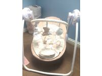Mothercare Teddy Bear swing chair with musical setting