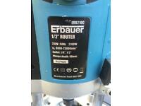 "Erbauer 1/4"" and 1/2"" router"