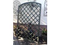 Arched lattice wooden trellis panel, excellent condition