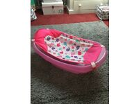 Glittery pink baby bath