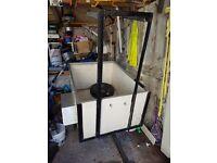 4x3 camping box trailer with bike rack