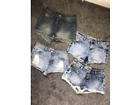 4 pairs denim shorts