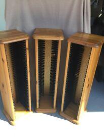 3 CD pine racks