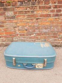 Antique 1920's suitcase, theatre prop, shop display, vintage luggage