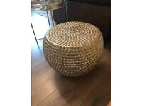 Unusual Gold Hammered Effect Side Table in Excellent Condition