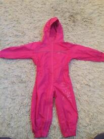 Trespass girls water proof rain suit all in one