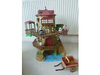 sylvanian families tree house and cart