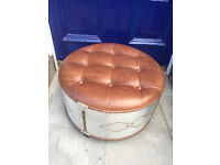 Modern Footstool ....like a drum . In good condition. Free local delivery