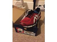 Asics GT1000v4 Red White Black Running Trainer size 9 Run