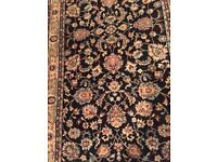 black wilton rug