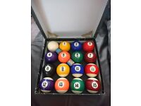 Pool balls set, full size